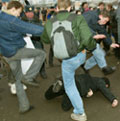 На Ярославском вокзале в Москве охранники РЖД избили безбилетника