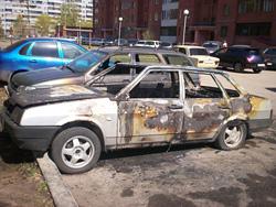 В Тольятти сгорели два автомобиля
