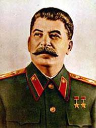 В центре Омска установили щит с портретом Иосифа Сталина
