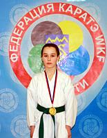 Тольяттинка стала серебряной медалисткой на первенстве России по каратэ WKF