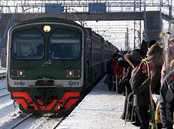 В Омской области электропоезд протаранил