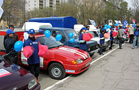 В Тольятти прошел автопарад ''От первых ''Жигулей'' до 25-миллионной ''Лады''