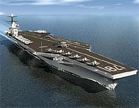 При возвращении на авианосец разбился разведывательный самолет ВМС США